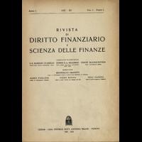 Rivista di diritto finanziario e scienza delle finanze