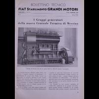 Bollettino tecnico Fiat Stabilimento Grandi Motori