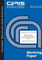 ART ET CULTURE DANS L'EVOLUTION DES DISTRICTS INDUSTRIELS ITALIENS [Art and culture in the evolution of Italian industrial districts]