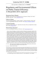 Regulatory and Environmental Effects on Public Transit Efficiency. A Mixed Dea-Sfa Approach
