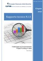 Il data base sul funzionamento Project Funding in Italia (Project Funding in Italy: organization and composition of the data base)