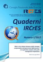 Quaderni Ircres numero 1/2017. What is the relation between public manager compensation and government effectiveness? An explorative analysis with public management implications